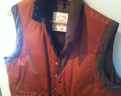 Vintage Leather & Down Vest
