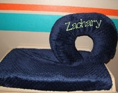 Boppy Cover and Changing Pad Cover in Minky with Personalization