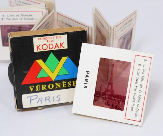 Vintage Paris Slides Color Kodak Film Made In France Notre Dame Versailles Gargoyle Eiffel Tower PeachyChicBoutique on Etsy