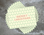 SUPER CLEARANCE SALE! - Merry Christmas -  set of 10 folded holiday note cards with envelopes - cross stitch design