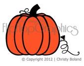 Pumpkin Wall Art, Vinyl Graphic