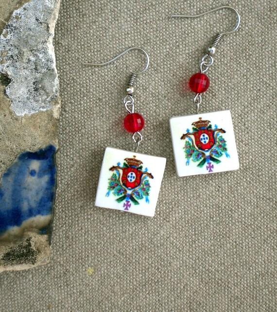 Portugal  Royal Seal or Brasao Earrings - 346
