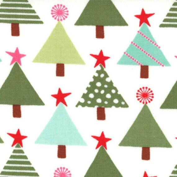 Joy by Kate Spain for Moda Fabrics -  Tannenbaum in Snow  - SKU  27122 13  -  1 Yard