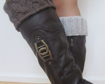 2 IN 1 - Hand Knitted Boot Toppers