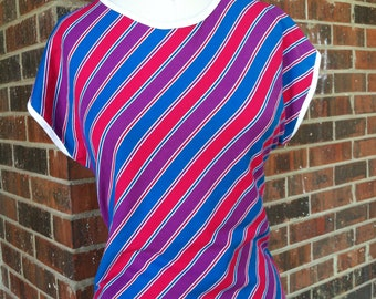 Striped 70's Top