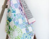 SALE! Patchwork Cot / Throw Quilt - Noughts