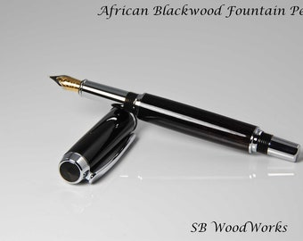 African Blackwood Baron Fountain Pen