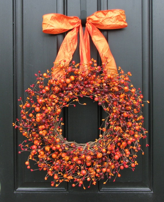 Decorating Wreaths: Items Similar To Fall Wreath
