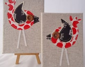 Oh so tweet....Linen Birdy DUO Free shipping Australia