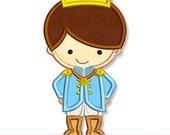 LITTLE PRINCE Applique 4x4 5x7 6x10 Machine Embroidery Design charming cutie princess  INSTANT Download