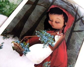 Red Riding Hood 5x7 Small Premium Hahnemuhle Giclee Fine Art Print