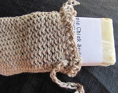 Organic Hemp Soap Saver Bag With Orange Clove Soap