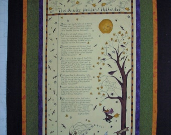 """Quilt Kit Pre Cut Halloween Happy Hollow II by Jacqueline Paton for Red Rooster Fabrics 2011 39"""" x 62"""""""