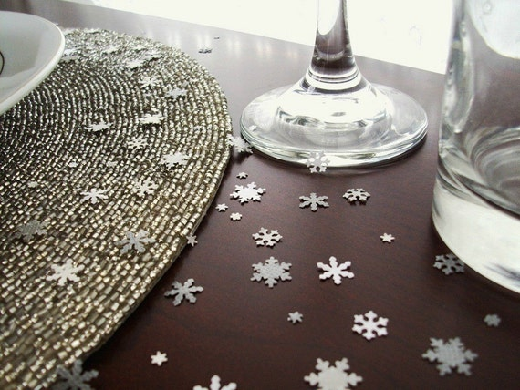 Winter Wonderland Confetti - Snowflake Table Decorations, Winter Wedding Decor