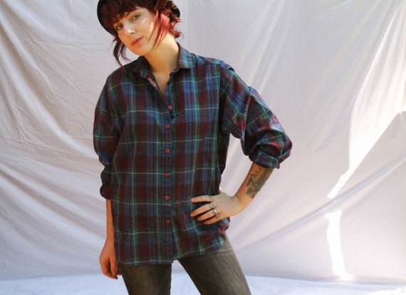 Maroon and Green Flannel