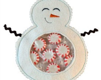 Snowman Candy Cuties In the Hoop Machine Embroidery Design