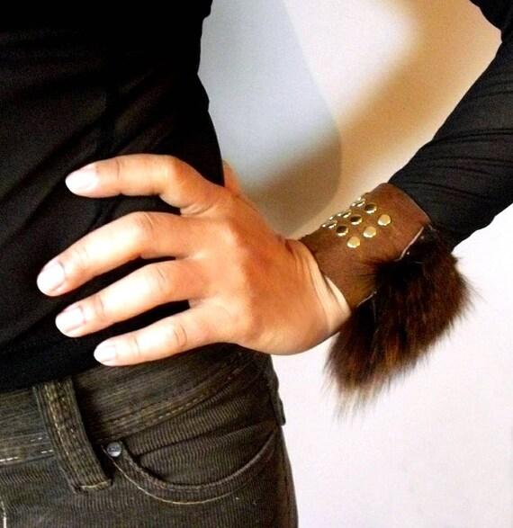 Super SALE-Women's  Recycled Fur Cuff 046
