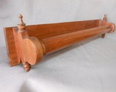 c1880 Victorian Carved Walnut Towel or Quilt Rack