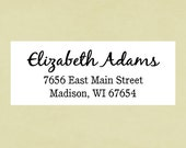 Return address labels, stickers, rectangular--black jack