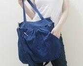 New Year SALE - 40% OFF Hoodie Max in Royal Blue / Shoulder Bag / Tote / Purse / Handbag / Diaper Bag / Large Bag / Women / For her