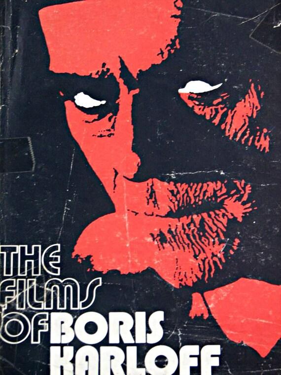 Vintage 70s The Films Of Boris Karloff Horror Movie fully illustrated book