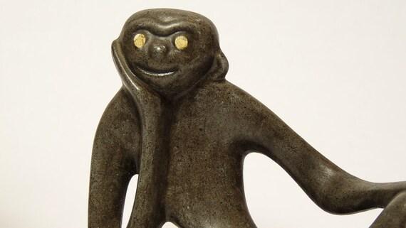 Mid-Century Pair of Monkey Figurines 1950's Modern Design