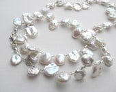 White Keishi Pearl - Petal Pearl - Necklace Choker for Bridal or Special Occasion