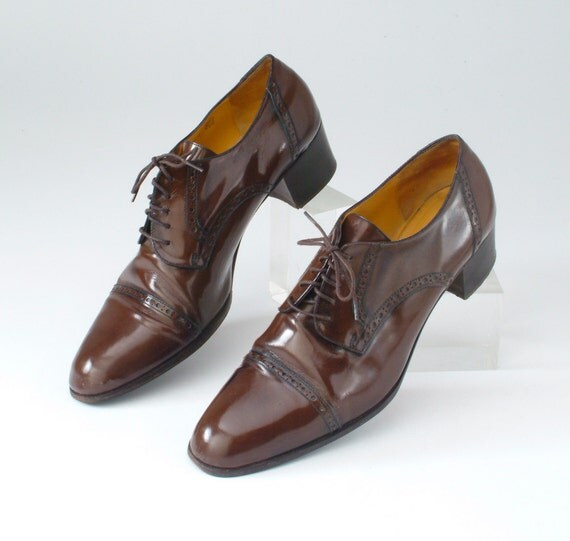 vintage brown patent leather bruno magli shoes by missfarfalla