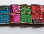 Indian Sari Journals, Buy 3 Get 4, Bulk Buy, Junk Journal, Party Favors, 8 x6 inches, Give-away's, Bridesmaids Gifts, RANDOM OOAK DESIGNS