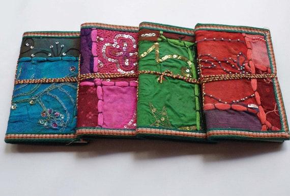 Pam-Indian Sari Journals, Set of 20,Bulk Buy, Wedding Favors, Party Favors, Give-away's, Bridesmaids Gifts, Cheap