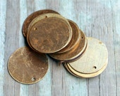 "Brass vintage round 3/4"" blanks 20 pieces"