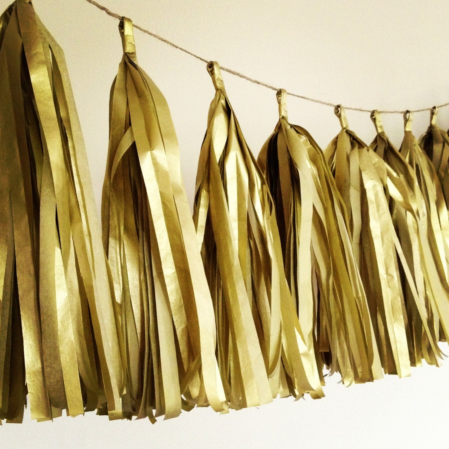 gold metallic tissue paper tassel garland wedding decorations new years eve decorations - Gold Decorations