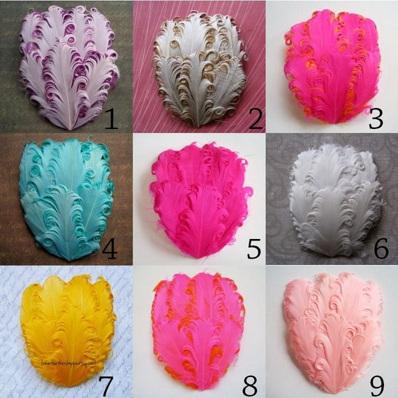 Wholesale Feather Pads - YOU PICK 10 - Nagorie Curled Goose Feather Pads