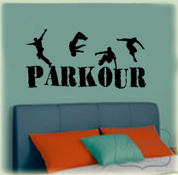 Items Similar To Parkour Vinyl Wall Lettering Decal With