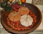 Primitive Fall Pumpkin Tucks Ornies HALLOWEEN Bowl Fillers