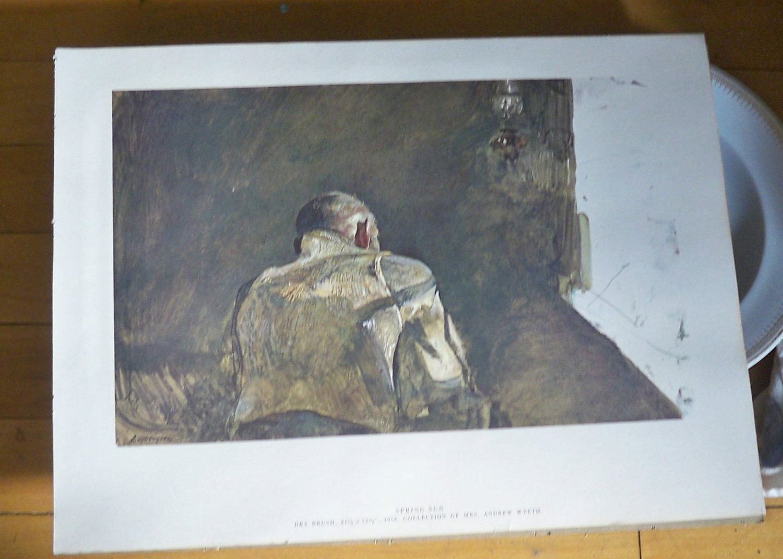 Andrew Wyeth Print Spring Sun Signed Art 1958