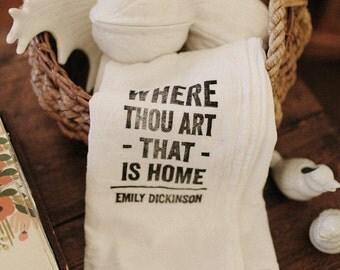 Flour Sack Tea Towels - Home Quotes (set of 2)