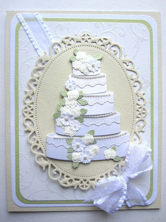 Elegant Wedding card can be PERSONALIZED with bride and grooms name and wedding date