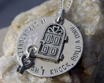 If Opportunity Doesn't Knock, Build a Door Handstamped Necklace