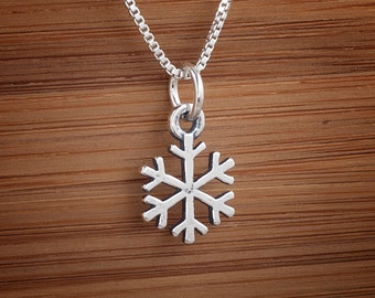 Little Snowflake - STERLING SILVER - (Charm, Necklace, or Earrings)