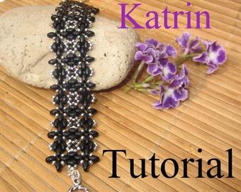 Katrin Superduo Beadwork Bracelet PDF Tutorial