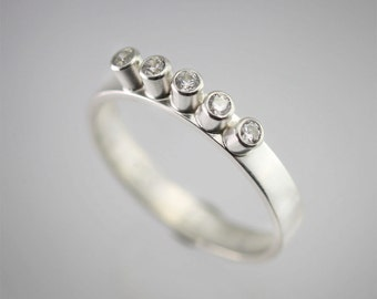 5 Stone Ring (Cubic Zirconia) Made to Order