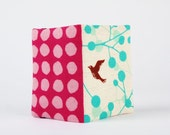 Card holder - Echino bird on turquoise - A