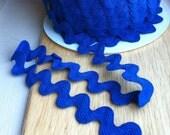ROYAL BLUE Medium Blue Ric Rac trim - 11/16 inch wide (17 mm) - 5 yards