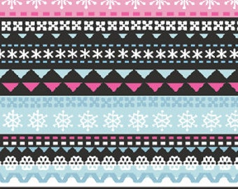 Winter Penguins Knitted Scarf Print in Multi Pink for Benartex Fabrics  - 1 Yard