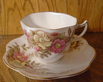 Rosina Queens English Bone China Tea Cup and Saucer 499A from an EtsyMom
