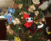 Harley Quinn Kitty Ornament