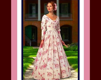NEW ORLEANS QUEEN-Beautiful Civil War Era Gown- Costume Sewing Pattern- Overlapped Bias Boned Bodice- Unique Sleeves-Uncut- Size 14-22