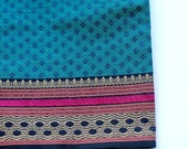 Custom Listing for navN: 2.5 yards Teal Blue with Attractive border shot cotton fabric