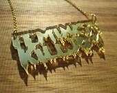 Gold Mirror Feminist Killjoy Necklace